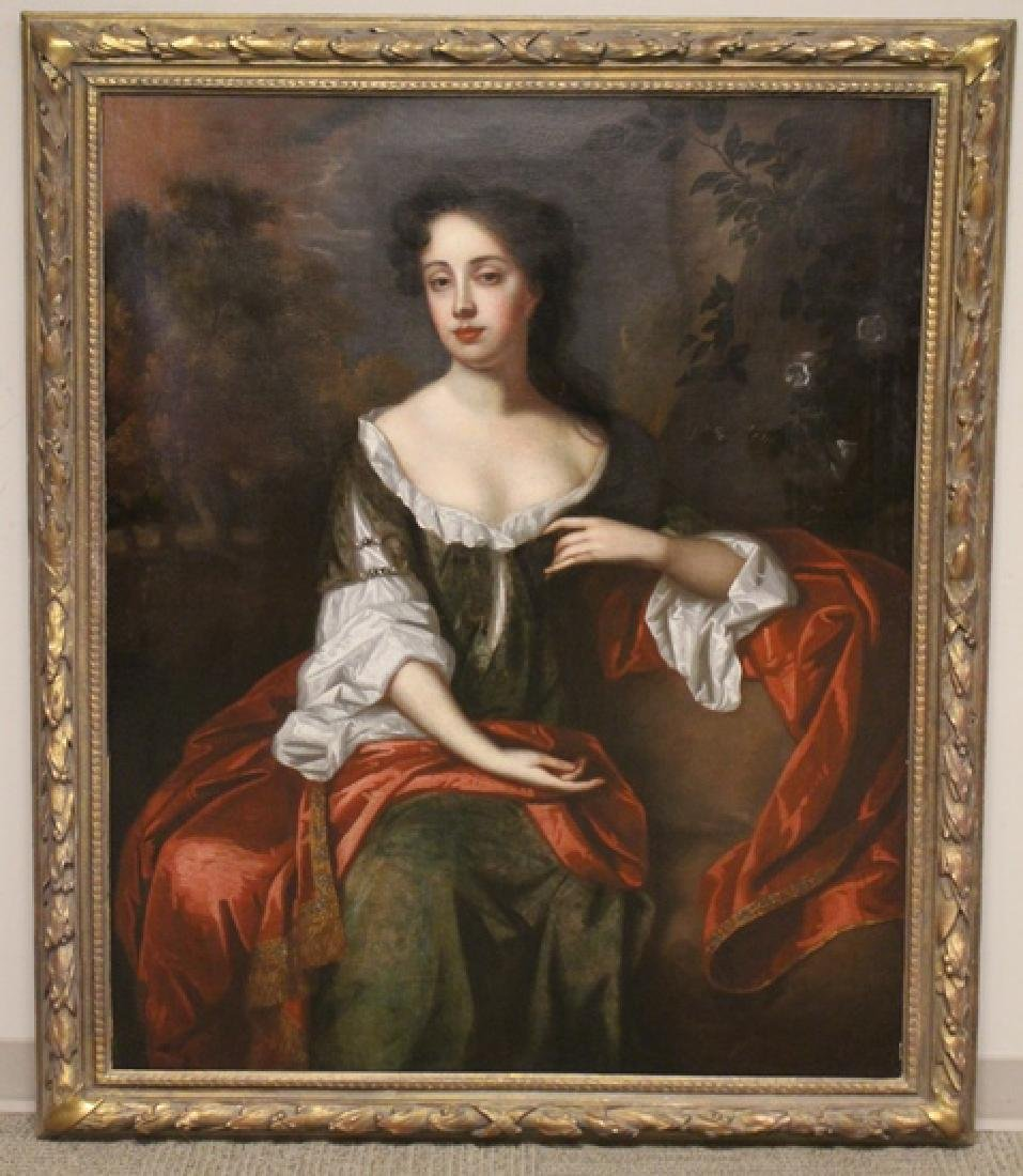 "18th Century Oil Painting ""Mrs. Jane Dearing"""