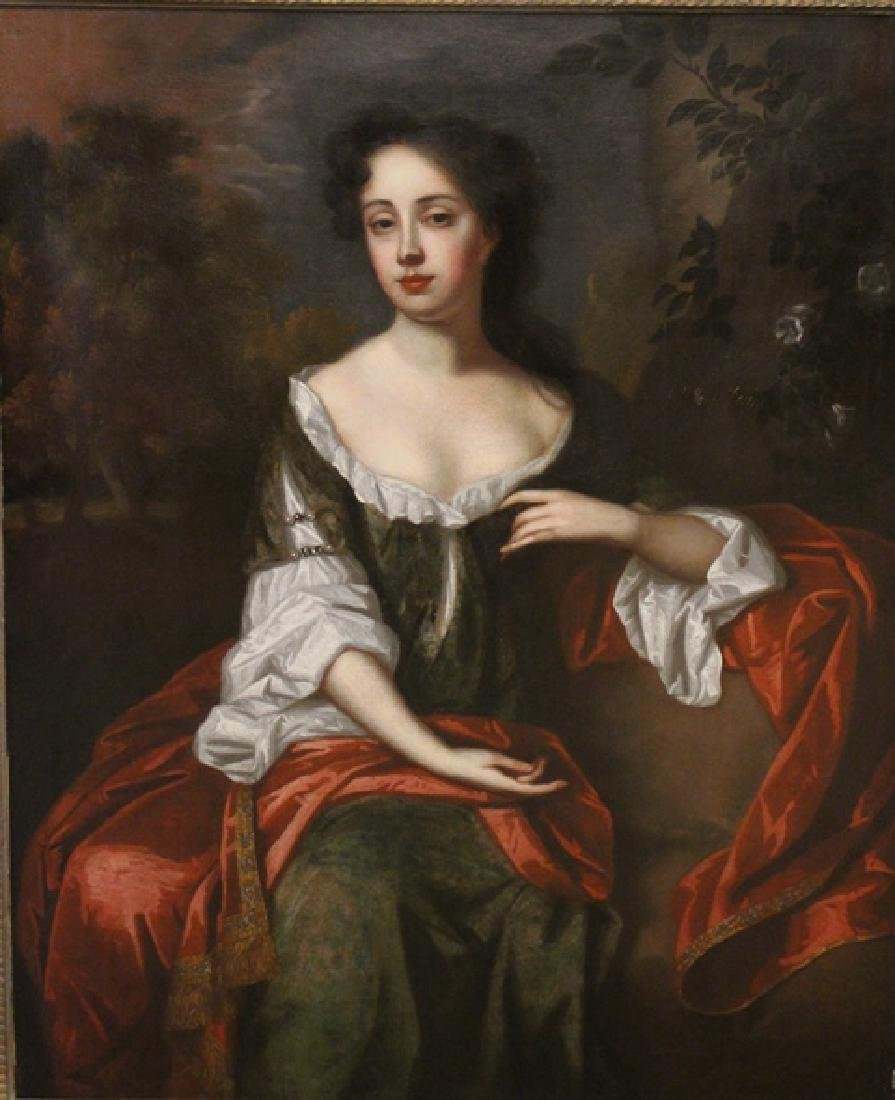 "18th Century Oil Painting ""Mrs. Jane Dearing"" - 2"
