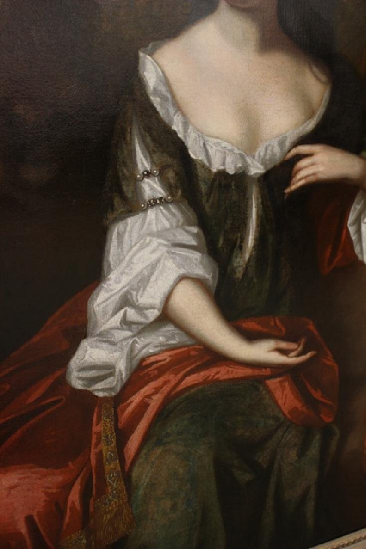 "18th Century Oil Painting ""Mrs. Jane Dearing"" - 6"