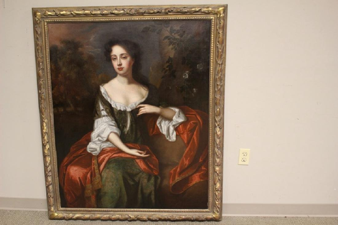 "18th Century Oil Painting ""Mrs. Jane Dearing"" - 9"