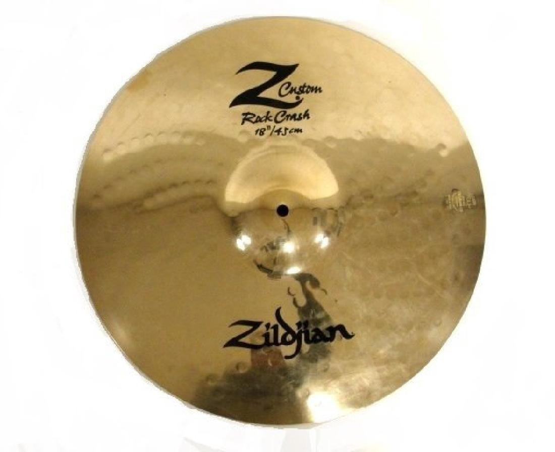 Two Zildjian Brass Cymbals 18'' Medium Crash