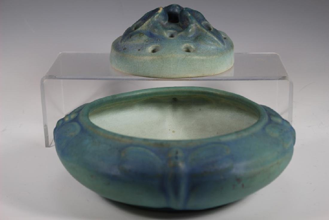 Van Briggle Pottery Bowl and Flower Frog