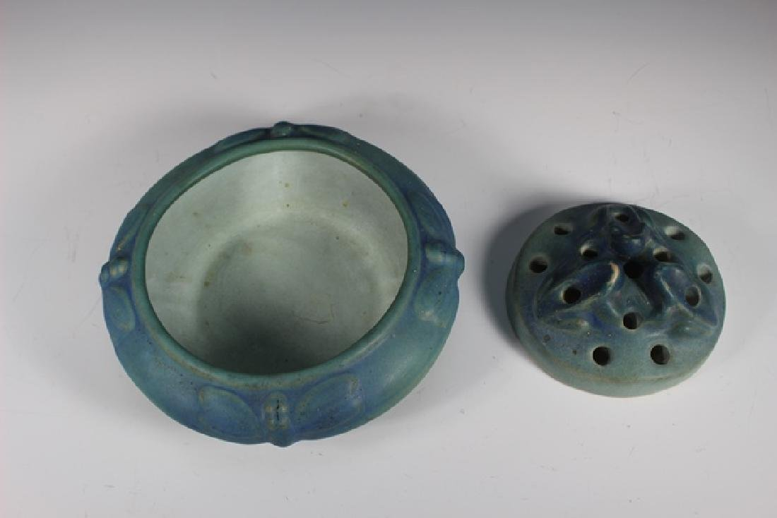 Van Briggle Pottery Bowl and Flower Frog - 6