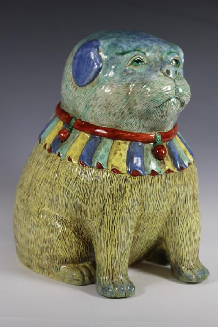 Polychrome Chinese Export Dog