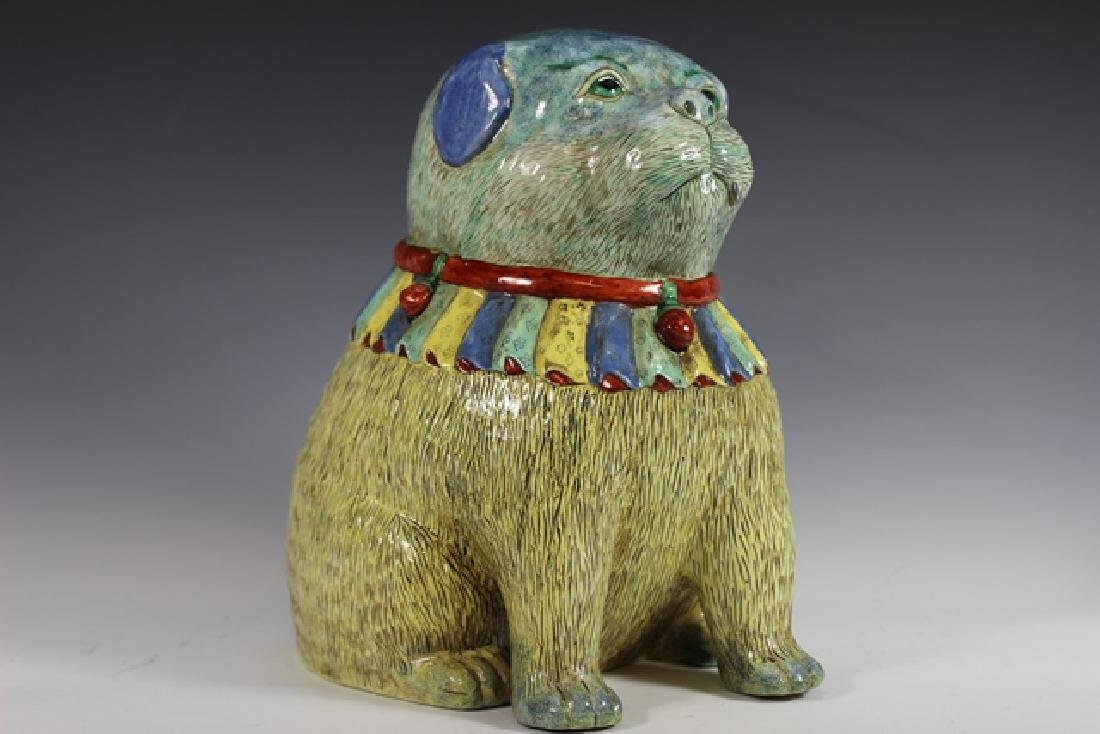 Polychrome Chinese Export Dog - 2