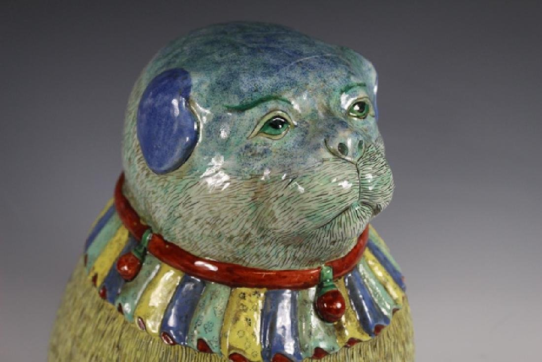 Polychrome Chinese Export Dog - 3