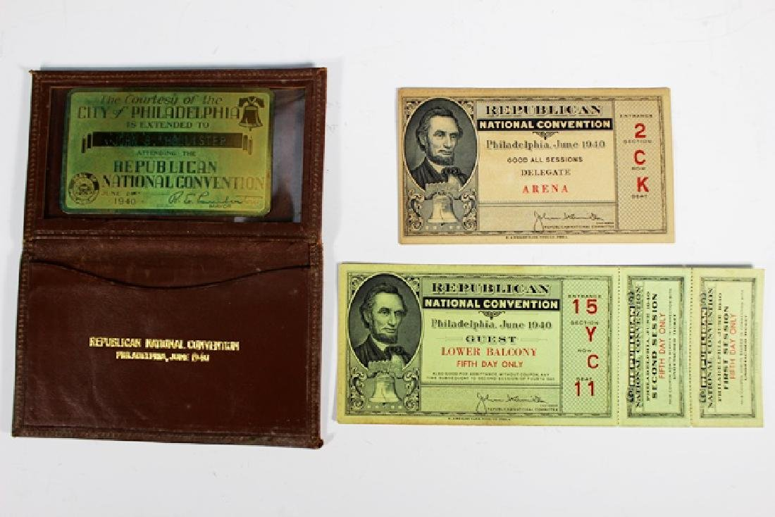 1940 REPUBLICAN National Convention Tickets