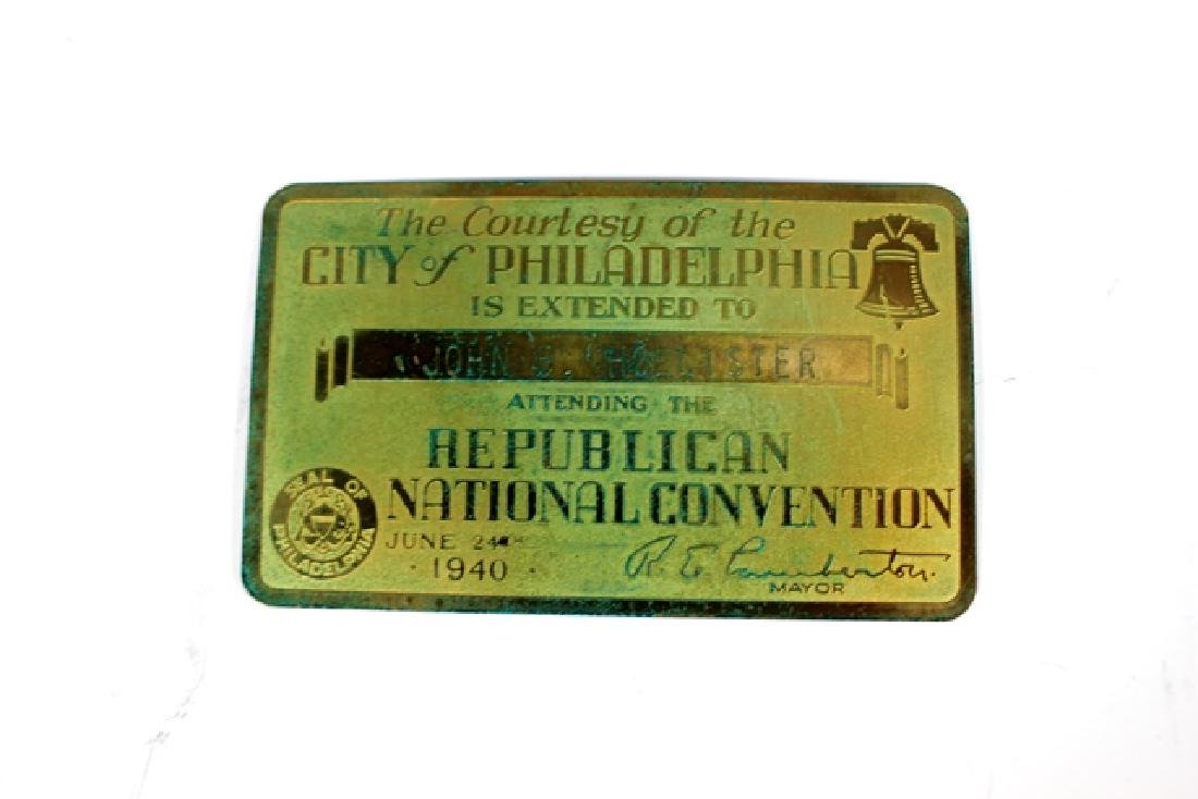 1940 REPUBLICAN National Convention Tickets - 3