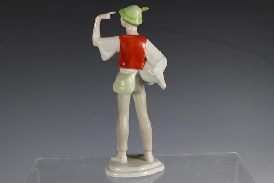 Hollohaza Kezzel Festett Porcelain Figurine - 5