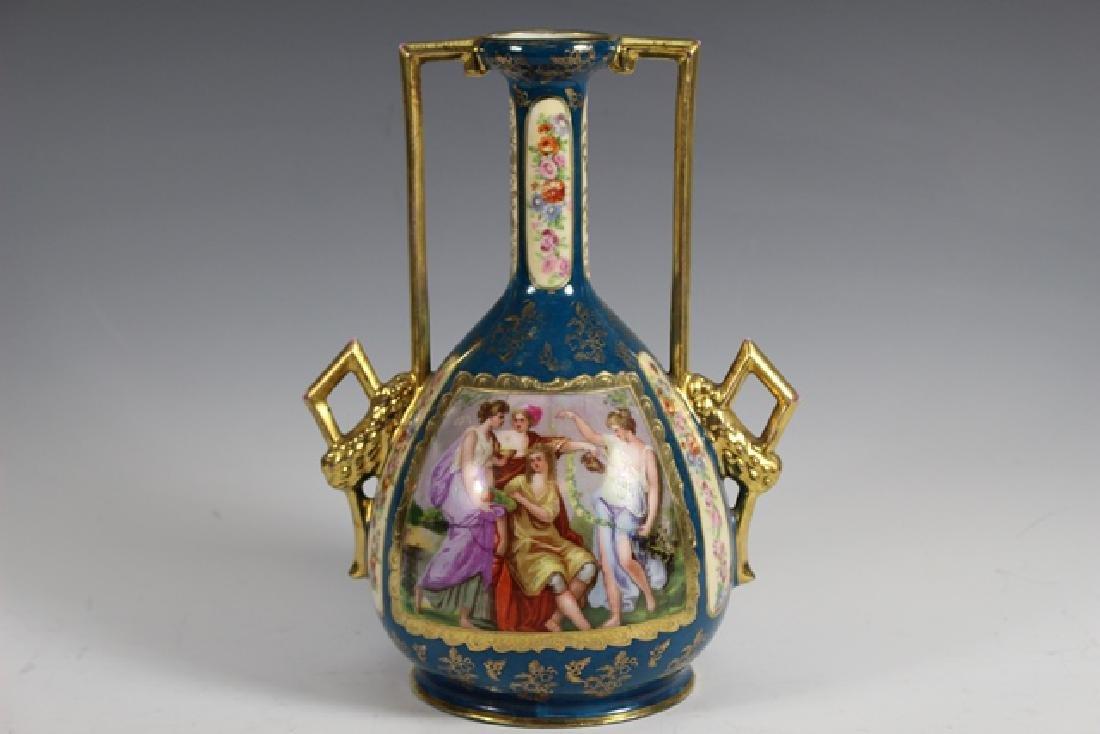 Royal Vienna AUSTRIA Interior Scene  Vase - 3