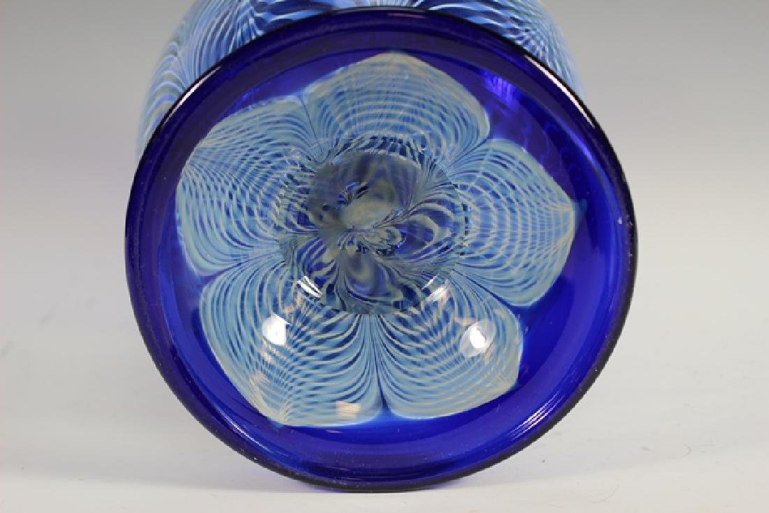 20th century PULLED Feather Art Glass Vase - 6