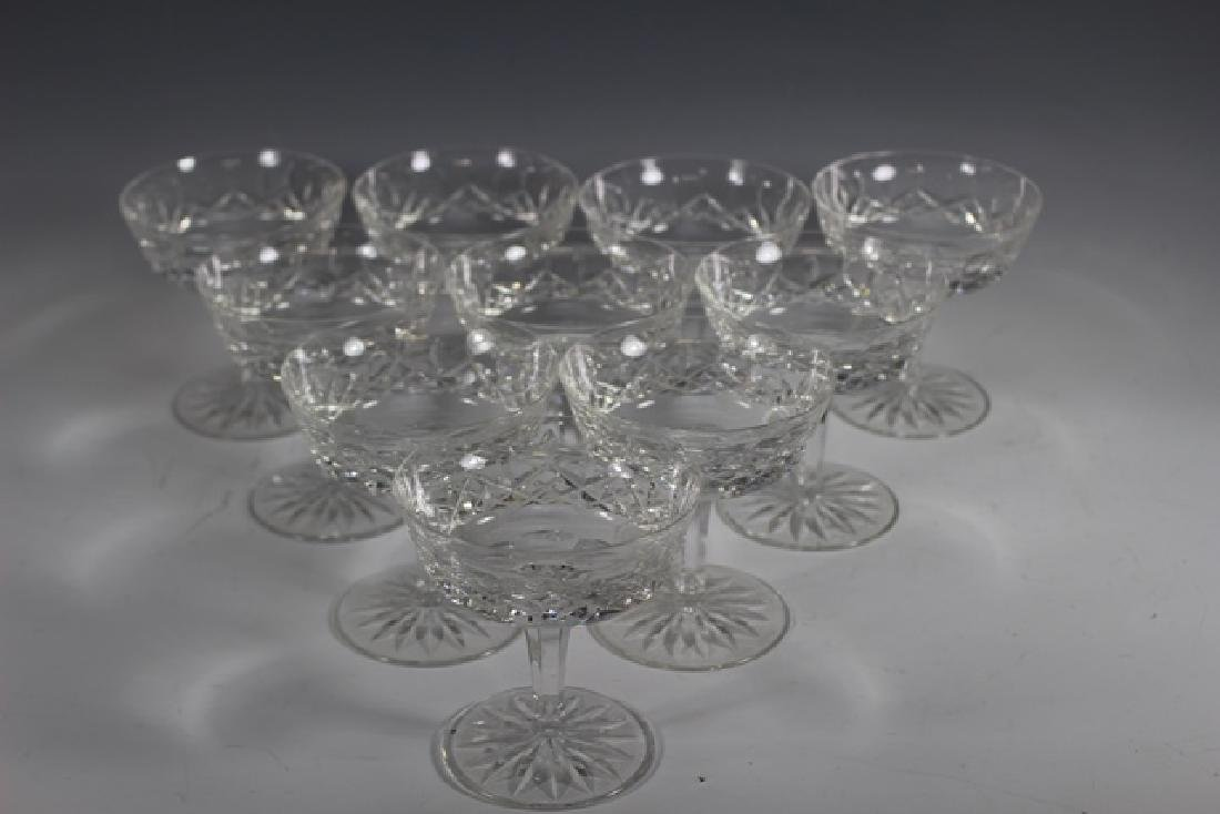 Ten (10) Waterford Crystal Lismore Stems