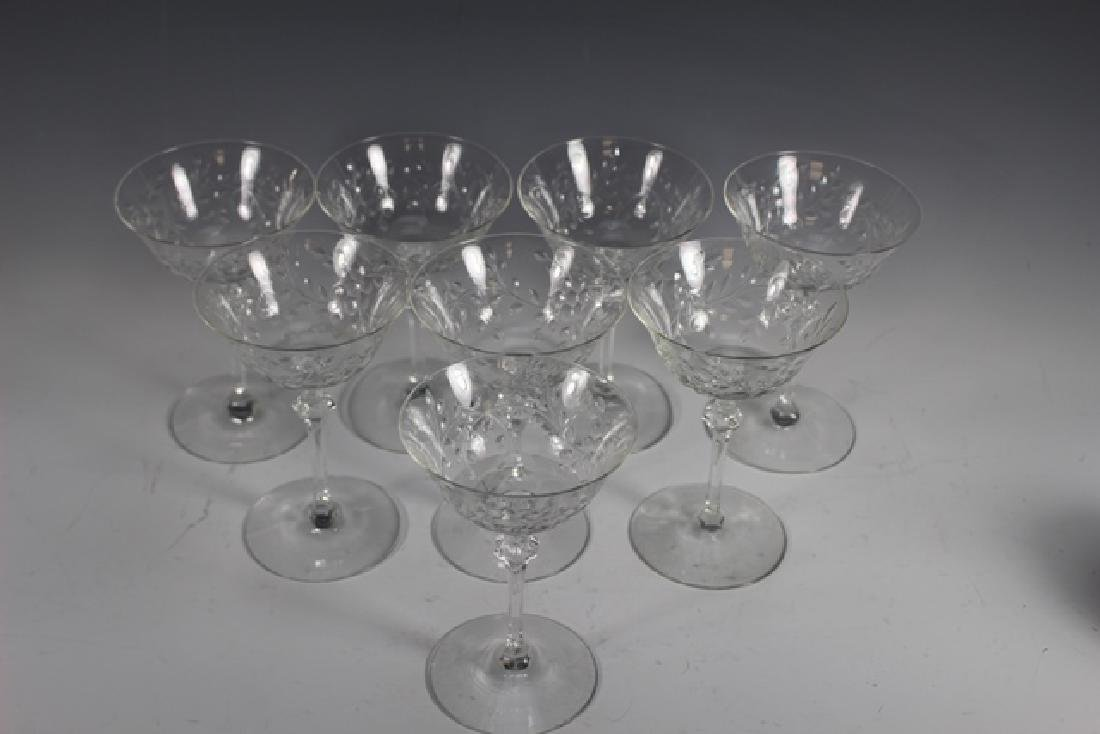 Eight (8) Wheel Cut Pairpoint Wine Stems - 4