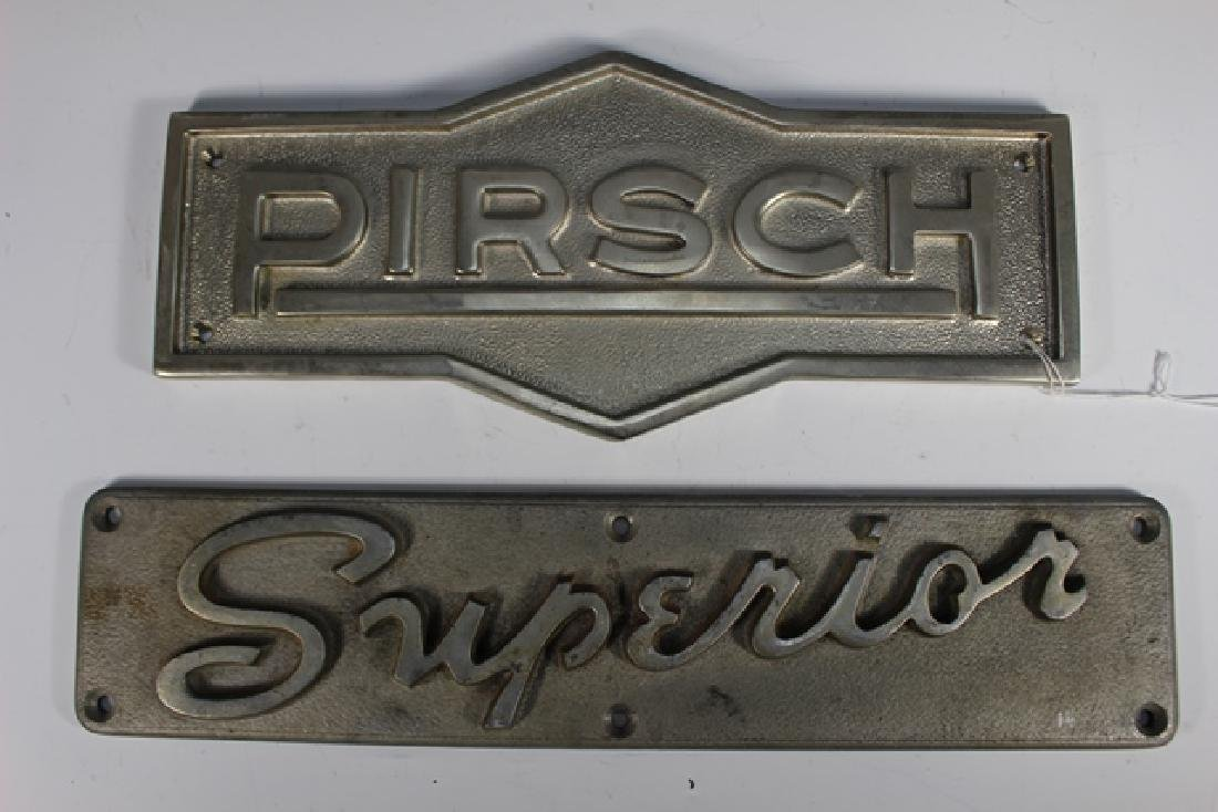 20th Century Pirsch and Superior Builder's Plates