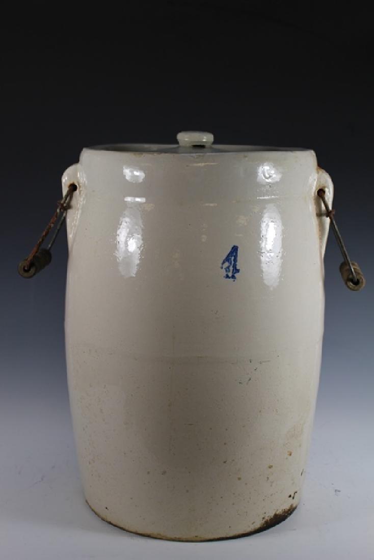 4 Gallon Stoneware Butter Churn Crock