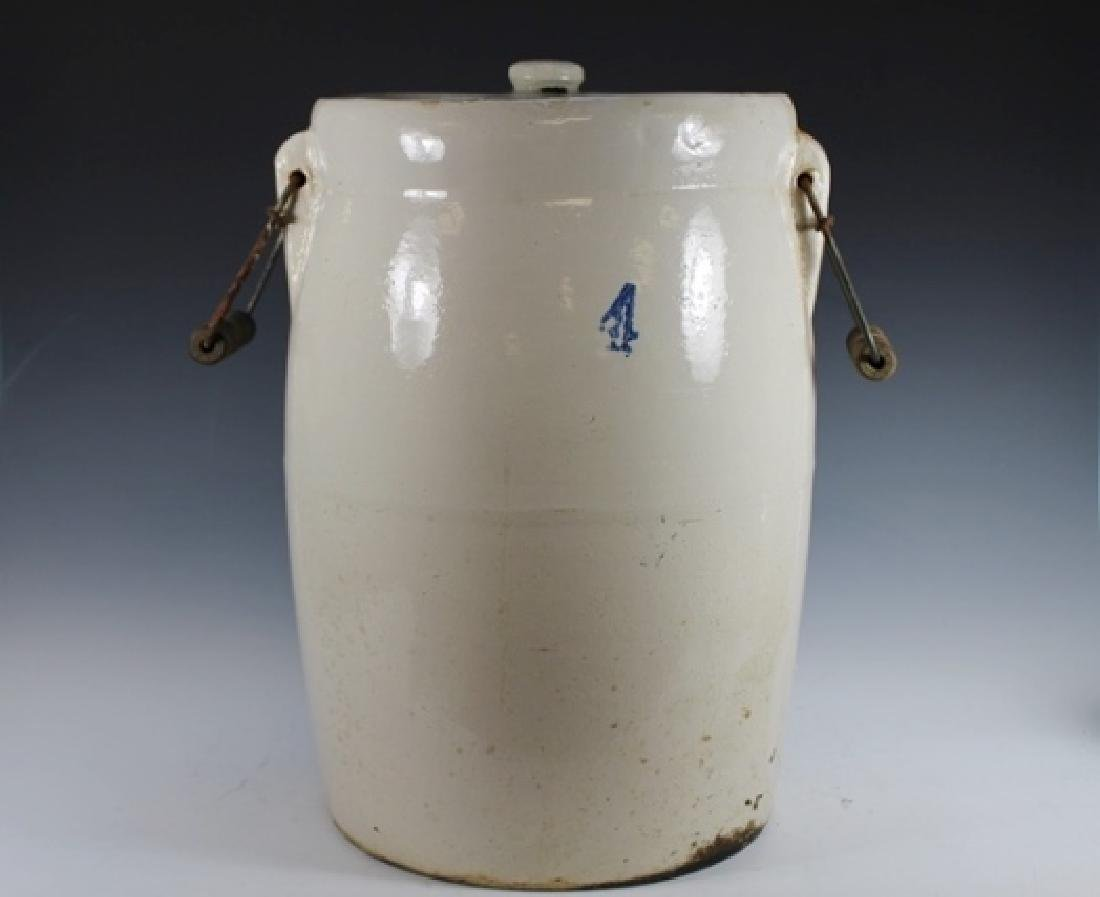4 Gallon Stoneware Butter Churn Crock - 2