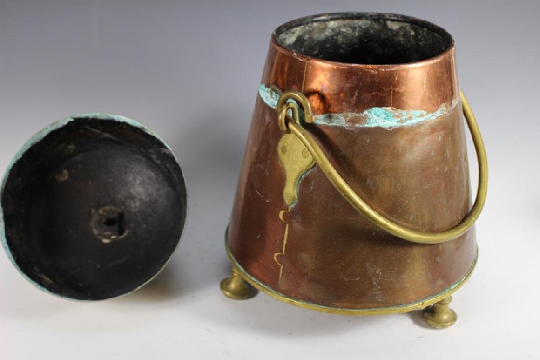 Early 20th Century Copper and Brass Lidded Kettle - 4