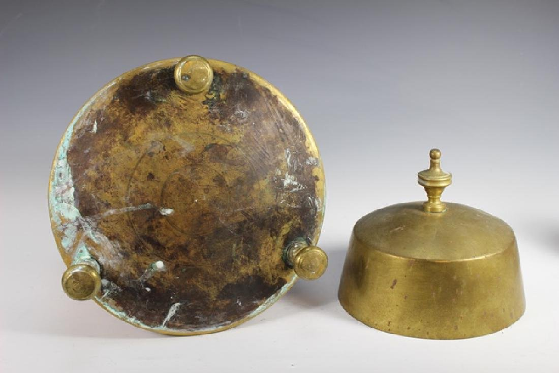 Early 20th Century Copper and Brass Lidded Kettle - 5