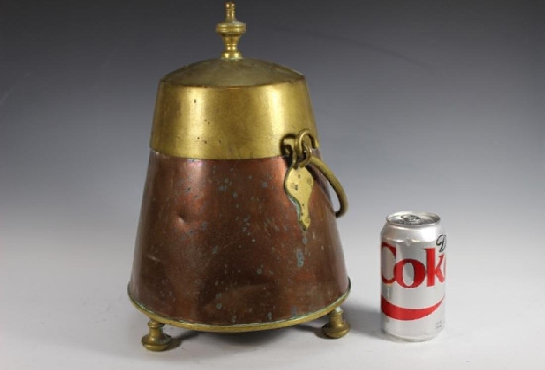 Early 20th Century Copper and Brass Lidded Kettle - 6