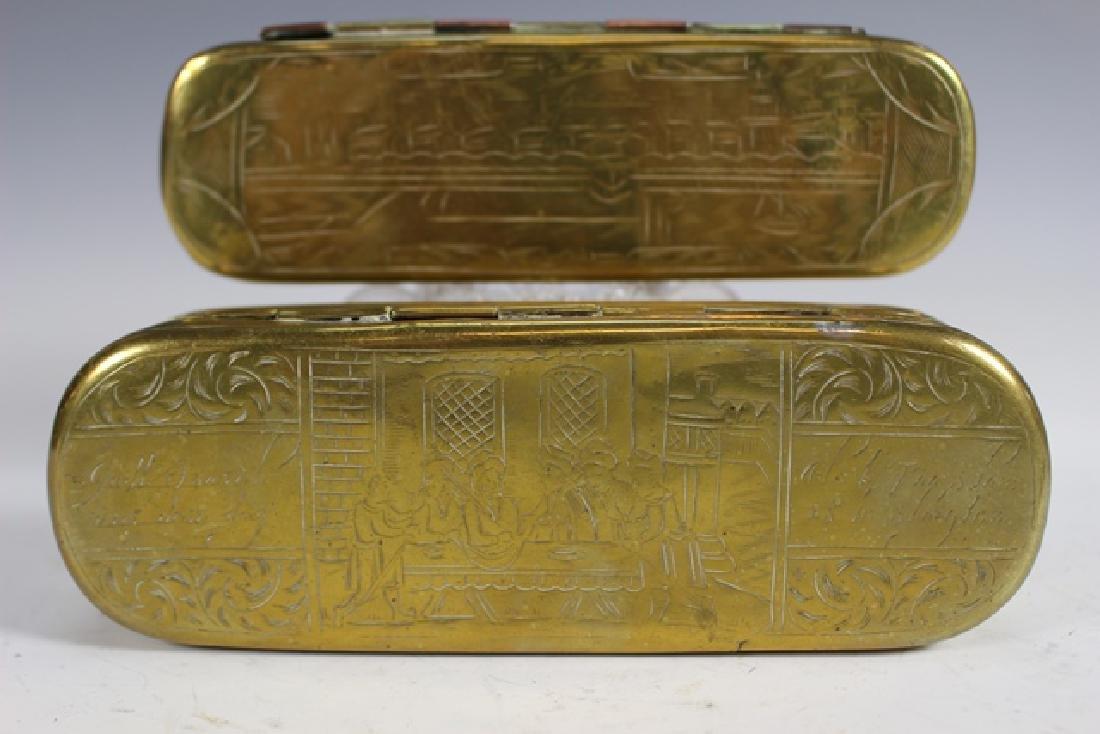Two 19th Century DUTCH Tobacco Boxes