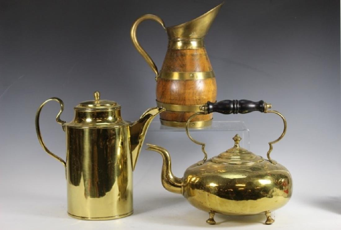 Three (3) ENGLISH Pitchers and Kettle