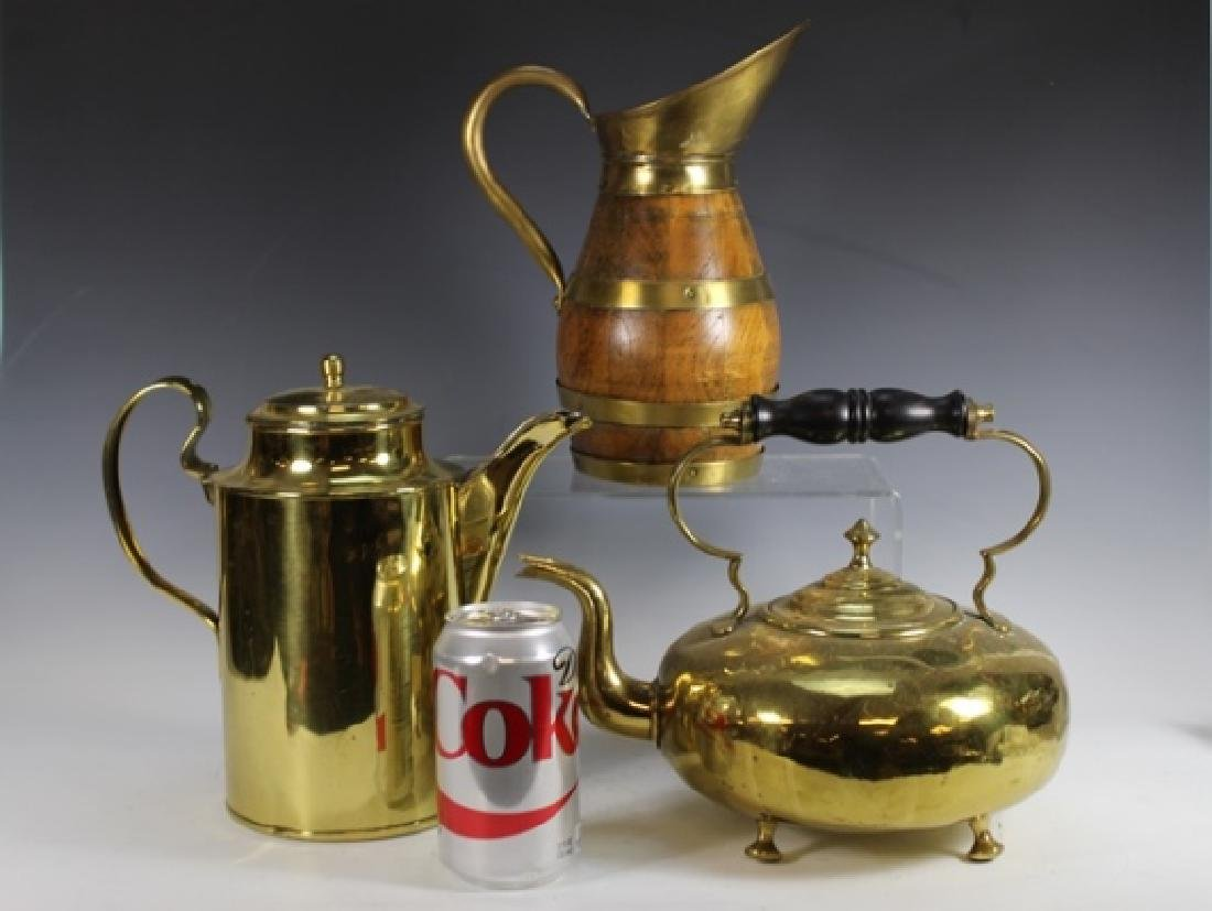 Three (3) ENGLISH Pitchers and Kettle - 2