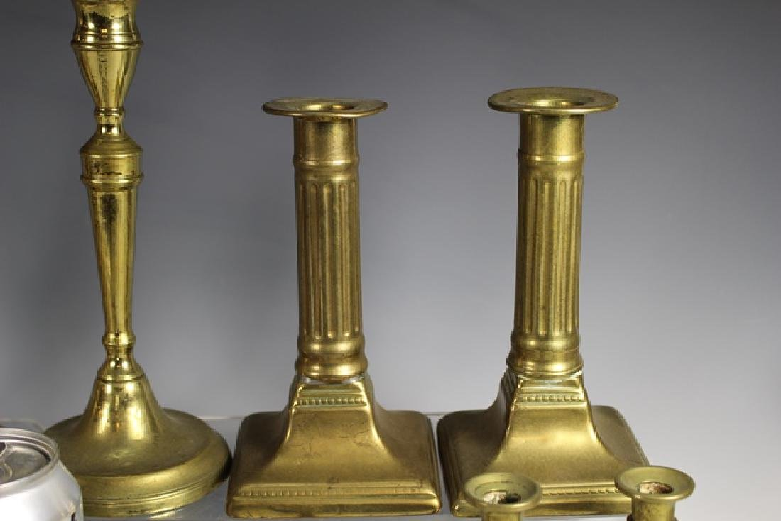 Nine Sets of French Brass Candle Sticks - 3