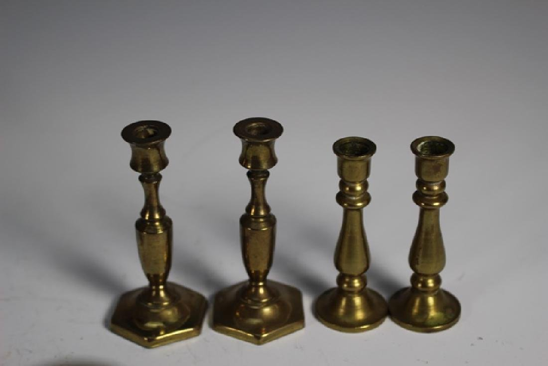 Nine Sets of French Brass Candle Sticks - 6