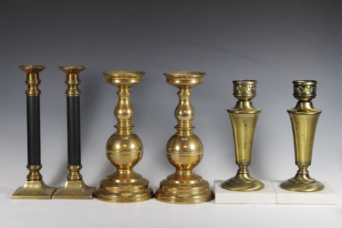 Pair of 19th Century Brass Pricket Candle Sticks