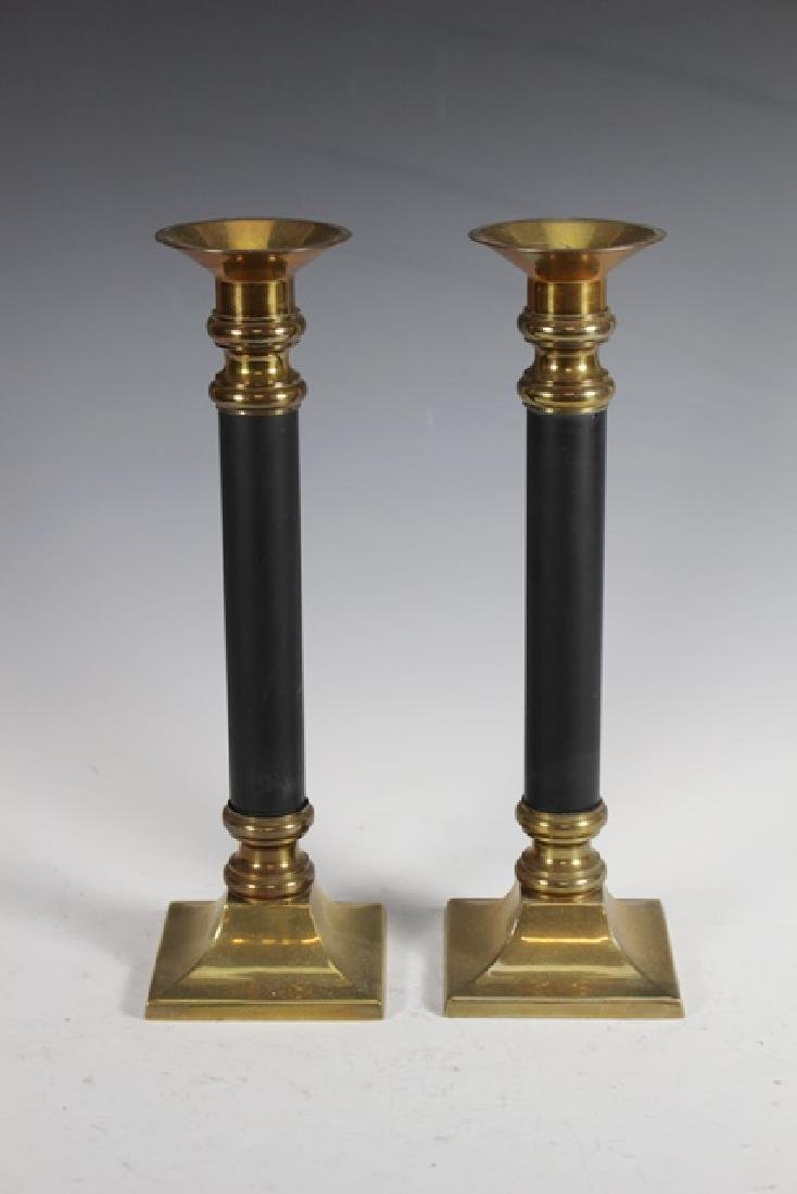 Pair of 19th Century Brass Pricket Candle Sticks - 5