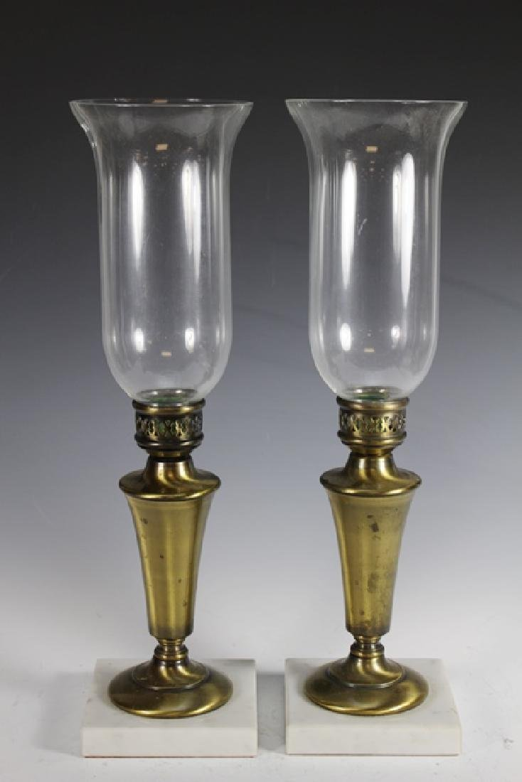 Pair of 19th Century Brass Pricket Candle Sticks - 6