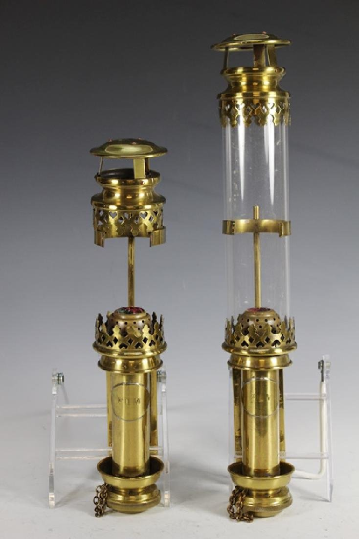 Pair of ENGLISH Brass Wall Sconces