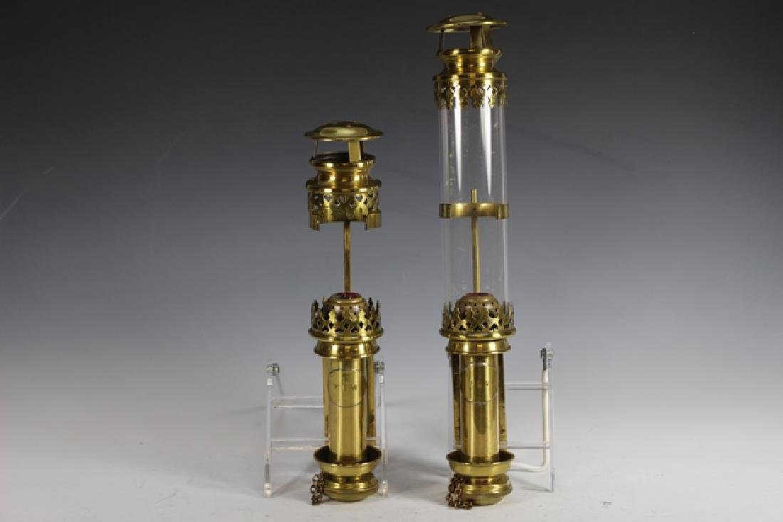 Pair of ENGLISH Brass Wall Sconces - 2