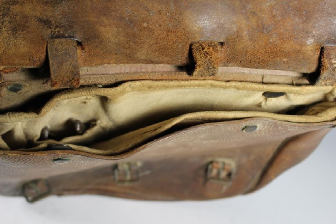 WWI US Leather Cavalry Saddle Bag - 4