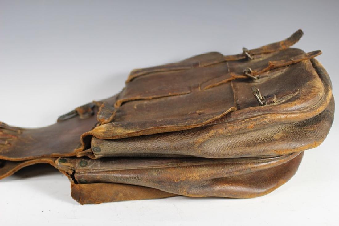 WWI US Leather Cavalry Saddle Bag - 6