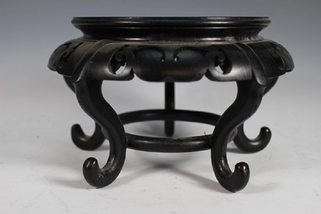 Three Oriental Rosewood Pedestal Stands - 5