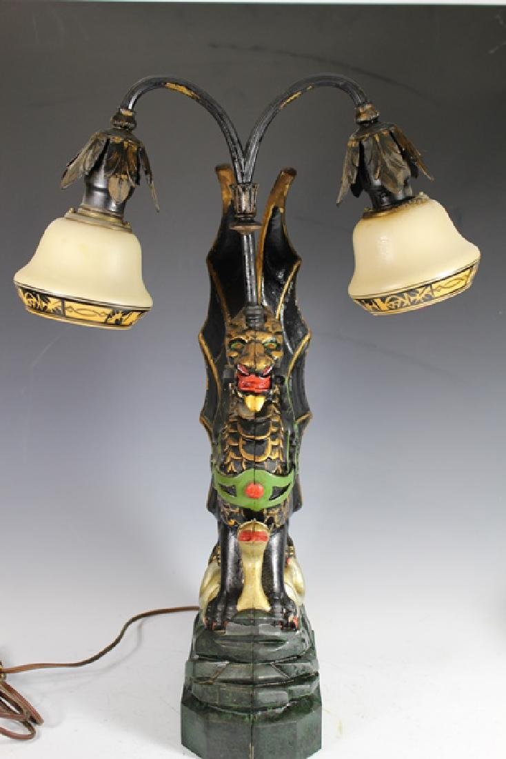 Mid Century Cast Dragon Student Lamp