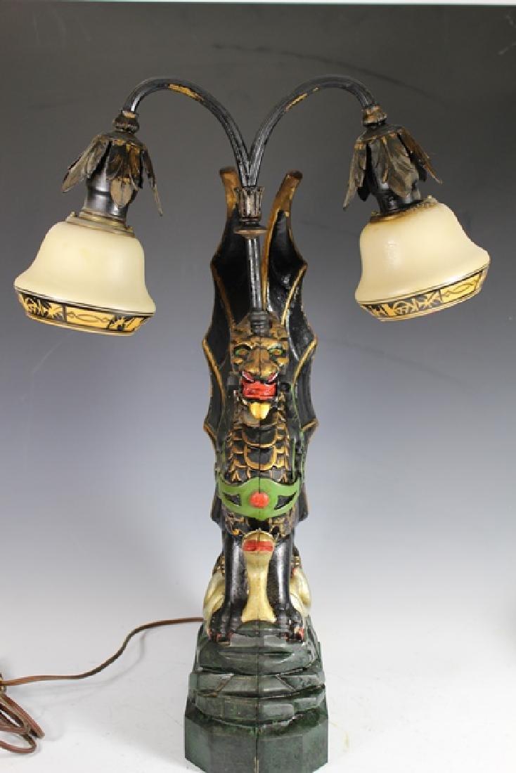 Mid Century Cast Dragon Student Lamp