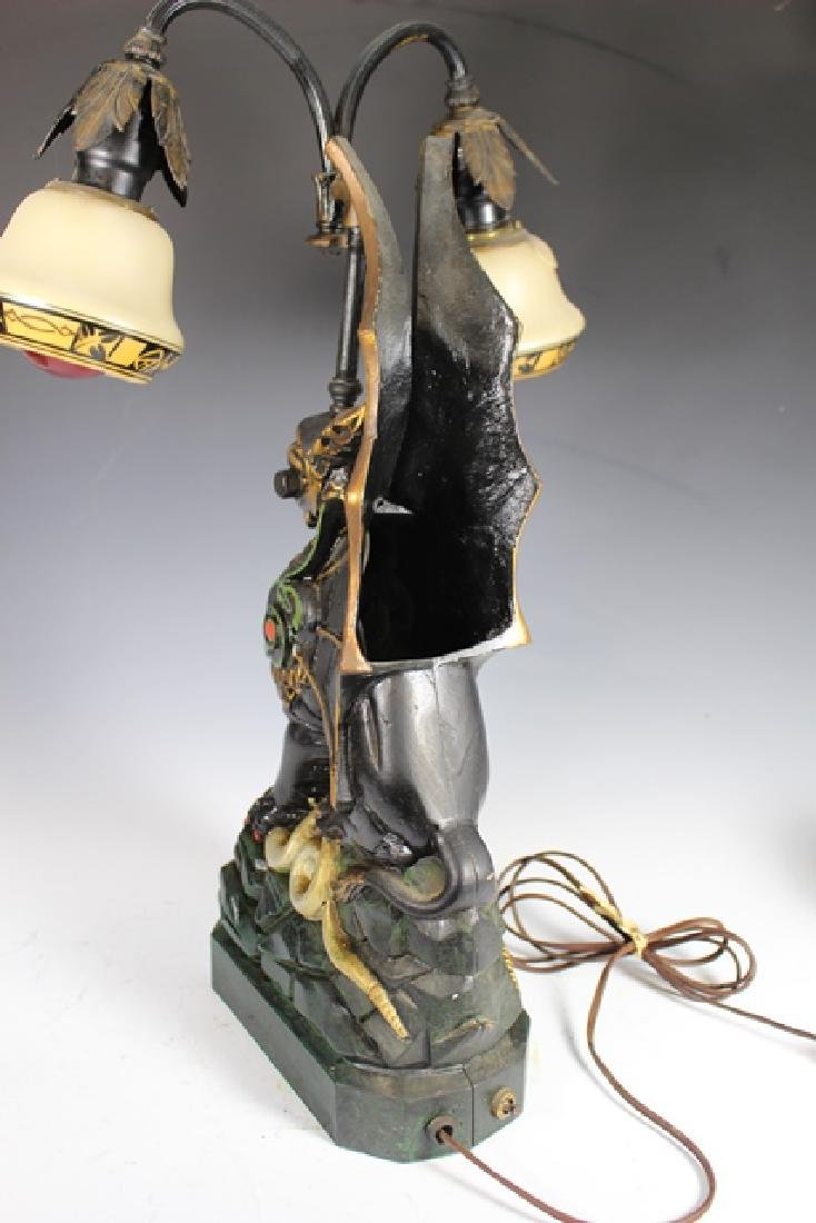 Mid Century Cast Dragon Student Lamp - 5