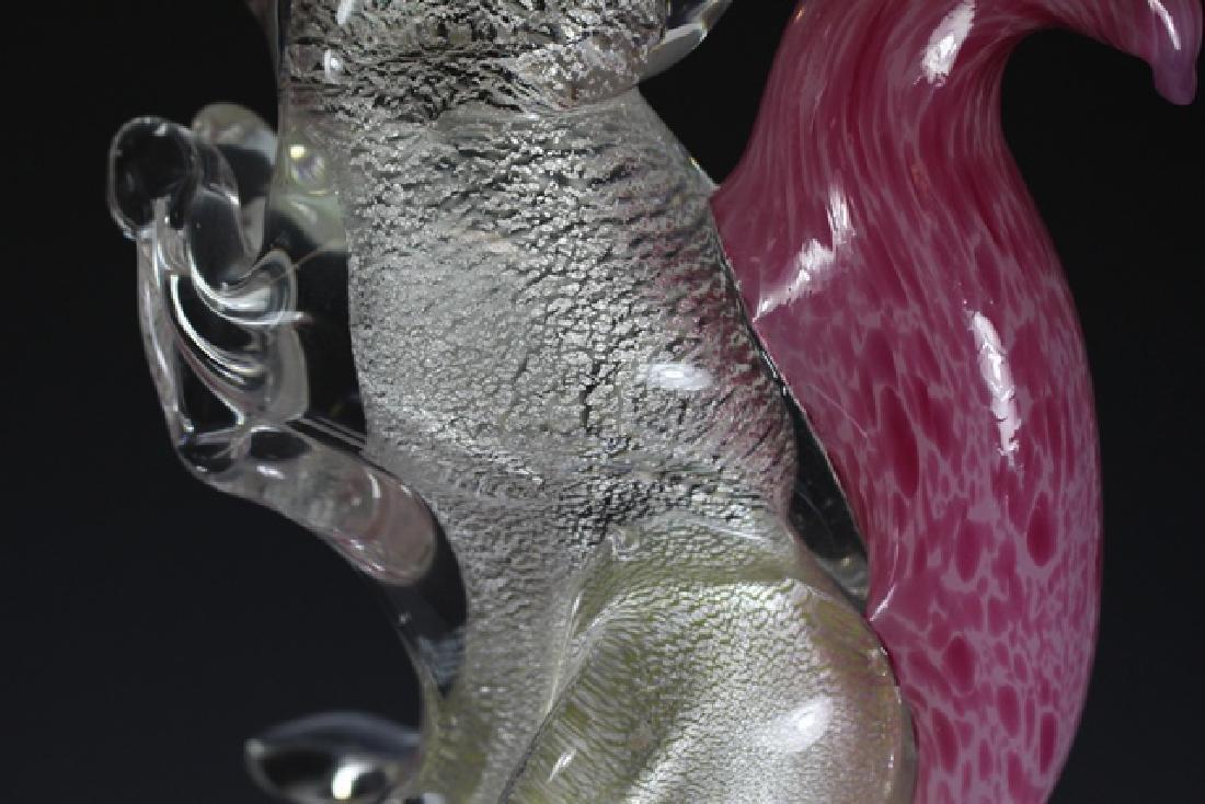 Italian Murano Art Glass Squirrel - 5