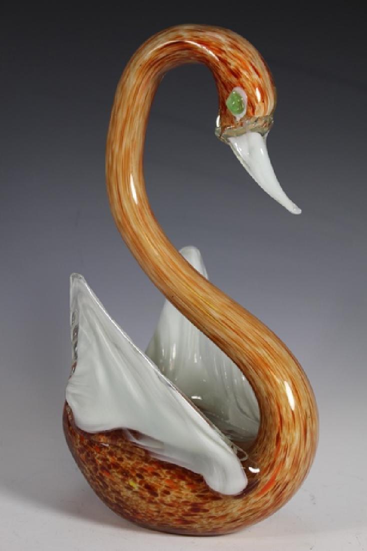 Italian Murano Art Glass Swan