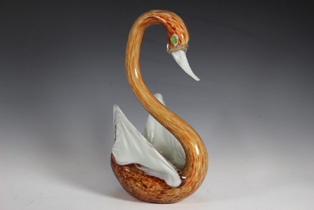 Italian Murano Art Glass Swan - 2