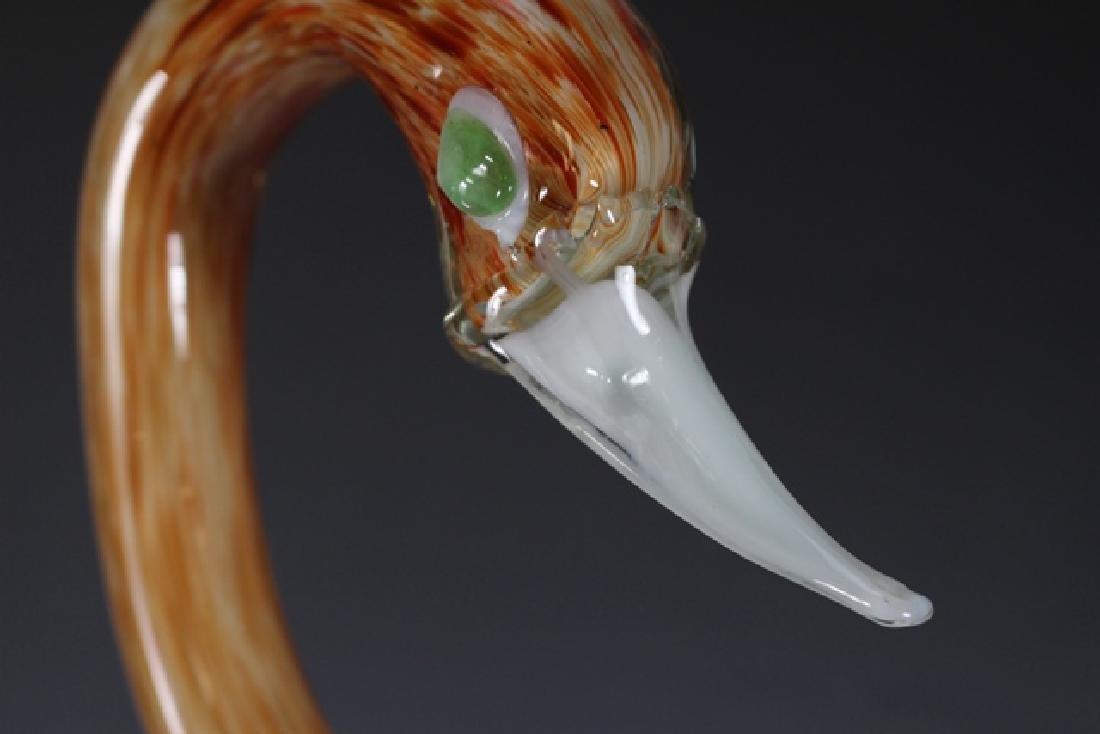 Italian Murano Art Glass Swan - 7
