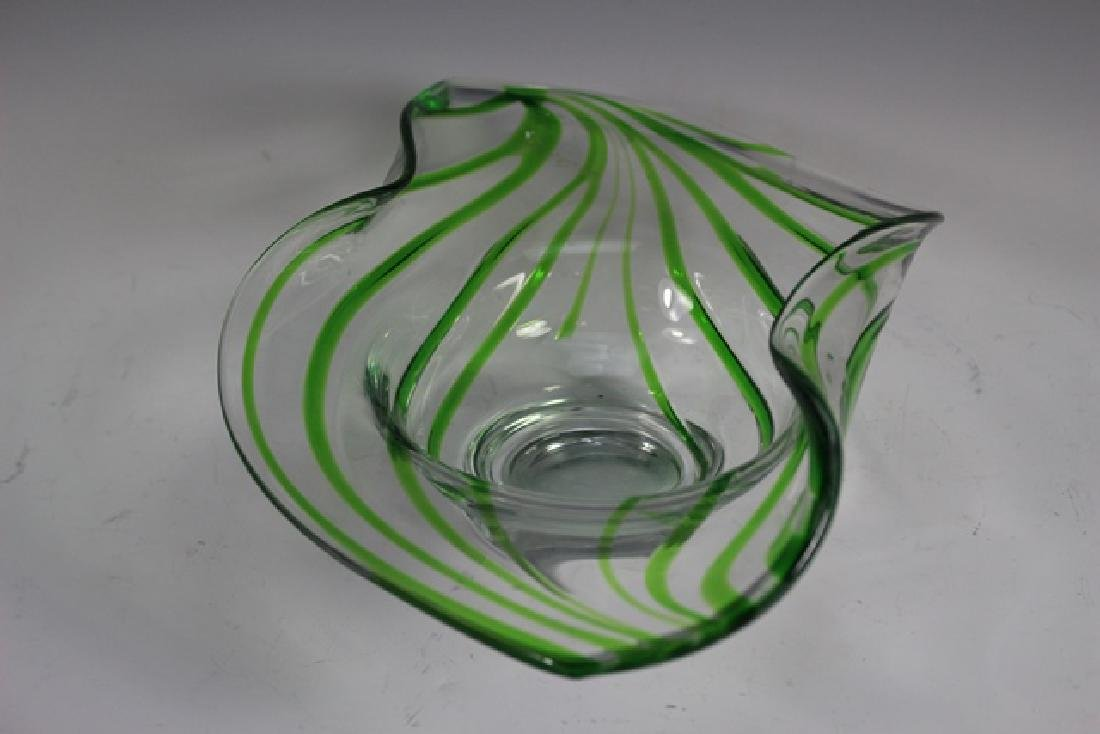 Late 20th Century Studio Art Glass Bowl - 2