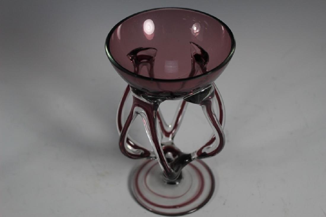 Two Studio Art Glass Stems - 4