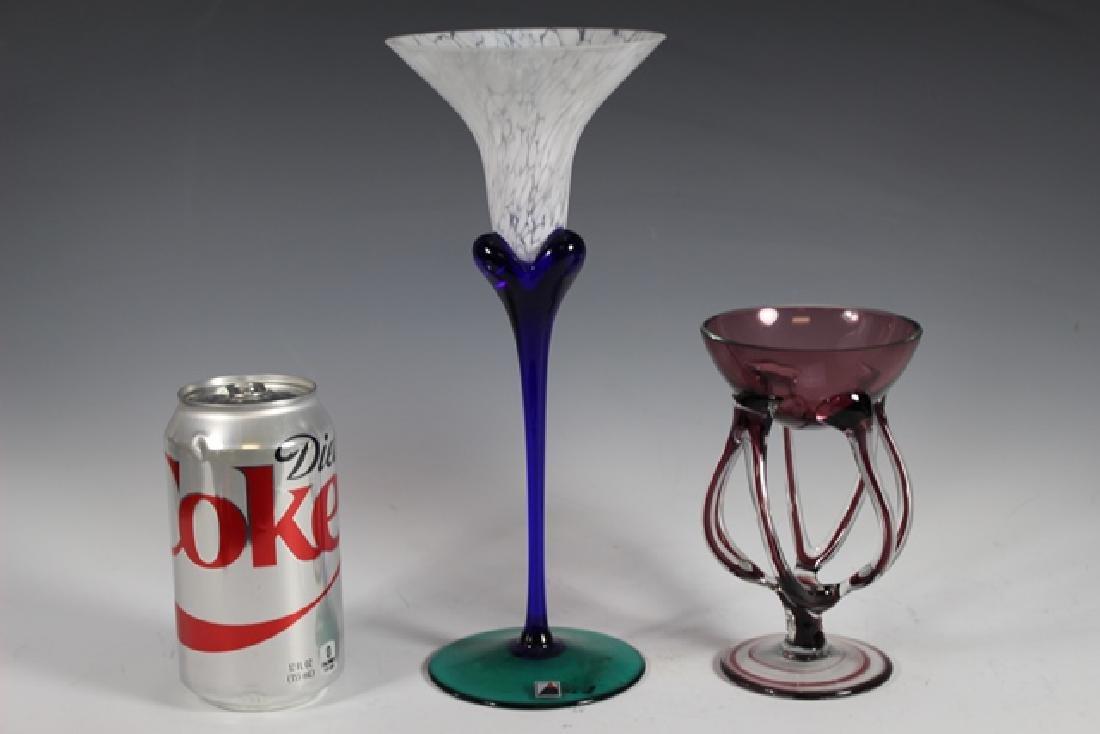 Two Studio Art Glass Stems - 9
