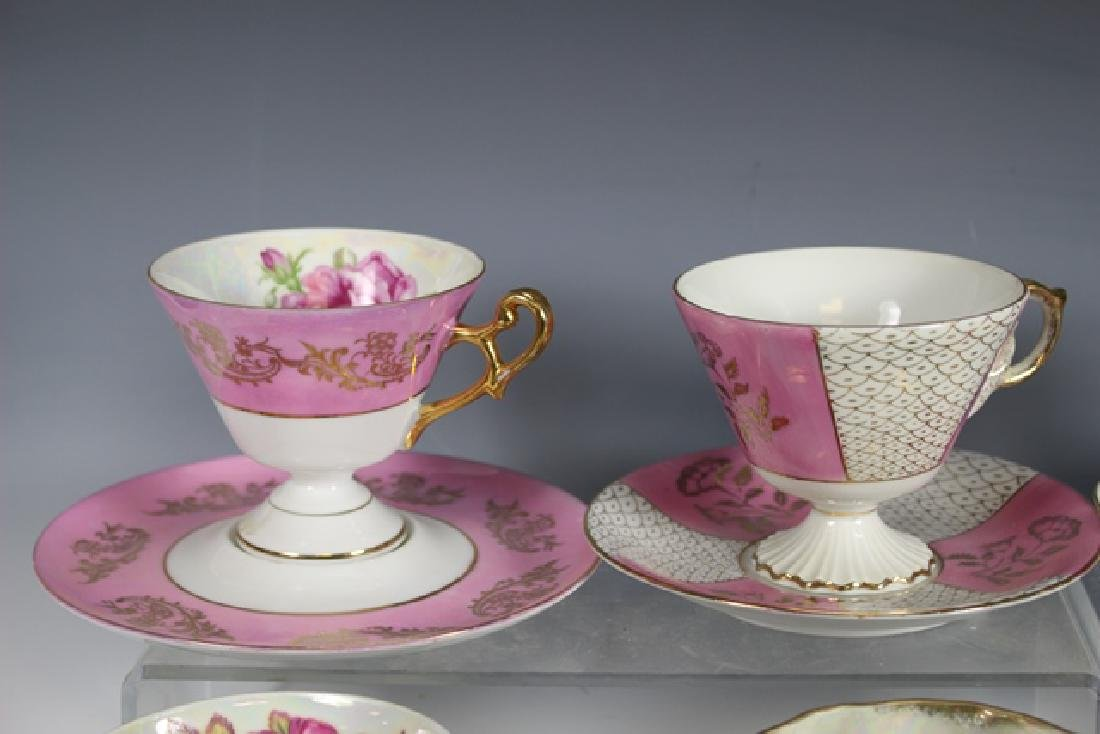 Eight Chocolate Cups and Saucers - 2