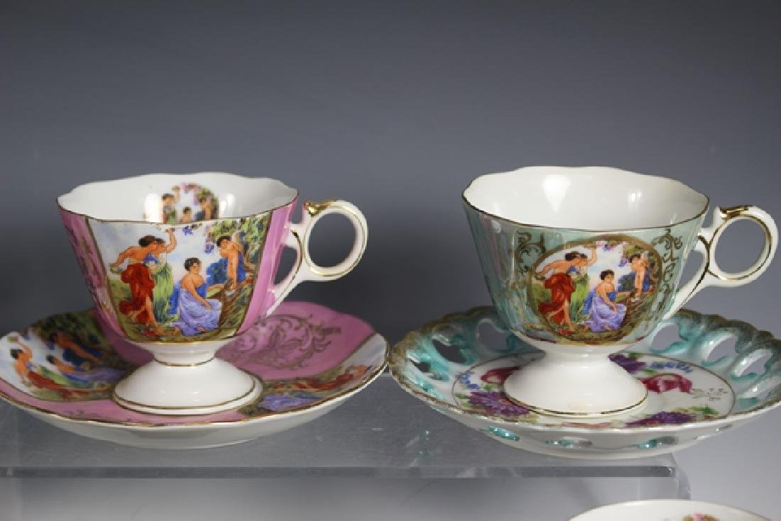 Eight Chocolate Cups and Saucers - 3