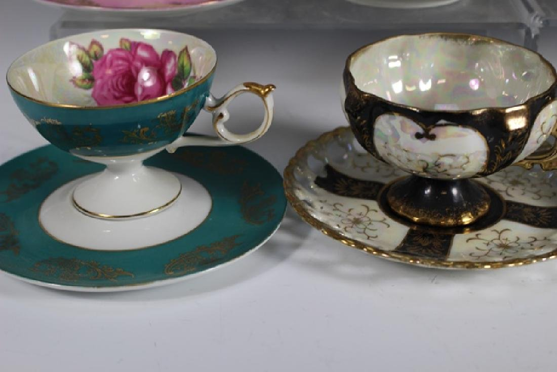Eight Chocolate Cups and Saucers - 4