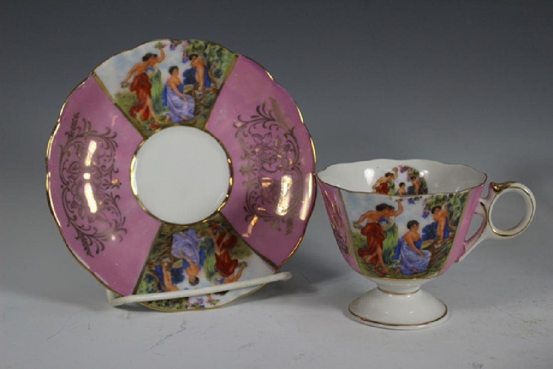 Eight Chocolate Cups and Saucers - 5